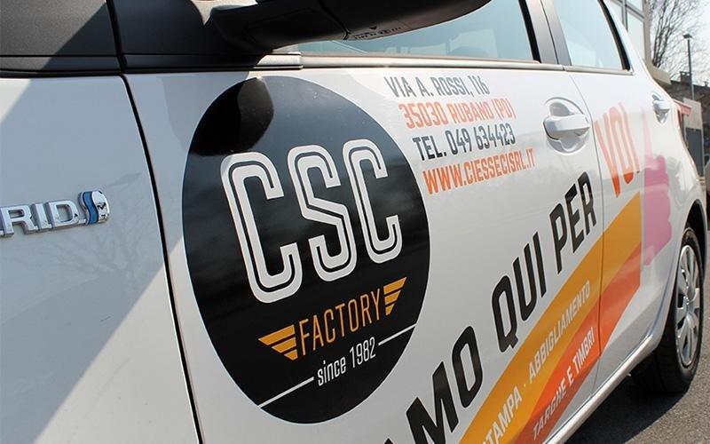 Csc factory esempio di stampa su autovettura