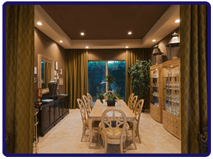 Sparkling clean dining room