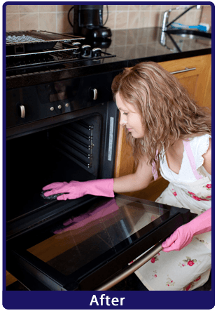 After image of a previously dirty oven