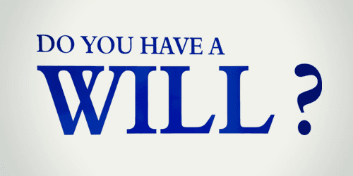 do you have a will sign