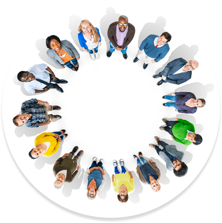 people in a circle
