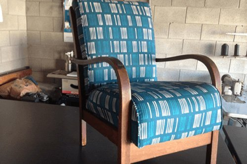 Replaced upholstery for a chair