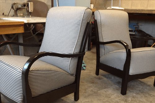 Revamped upholstery for wooden chair