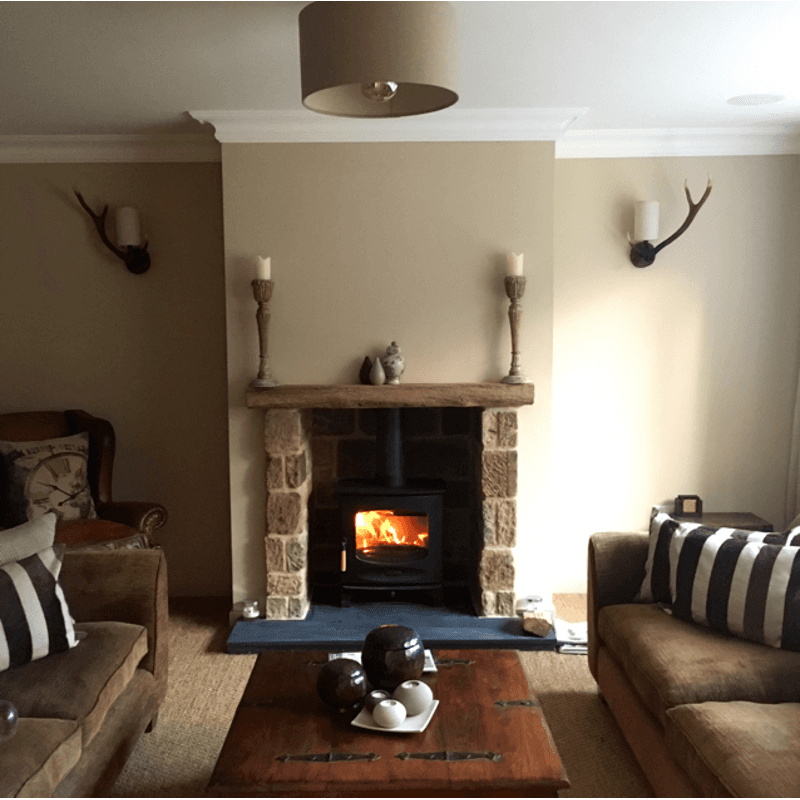 fire place in the hall