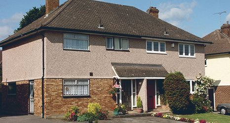 roughcast cleaning