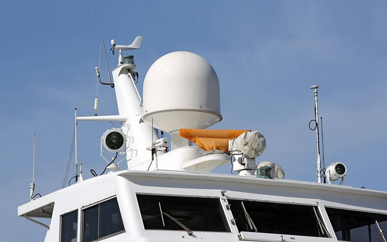 View of the safety equipment installed on the vessel