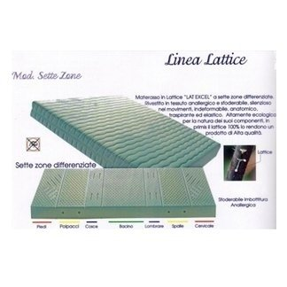 promozione materassi  a marchio Linea Lattice