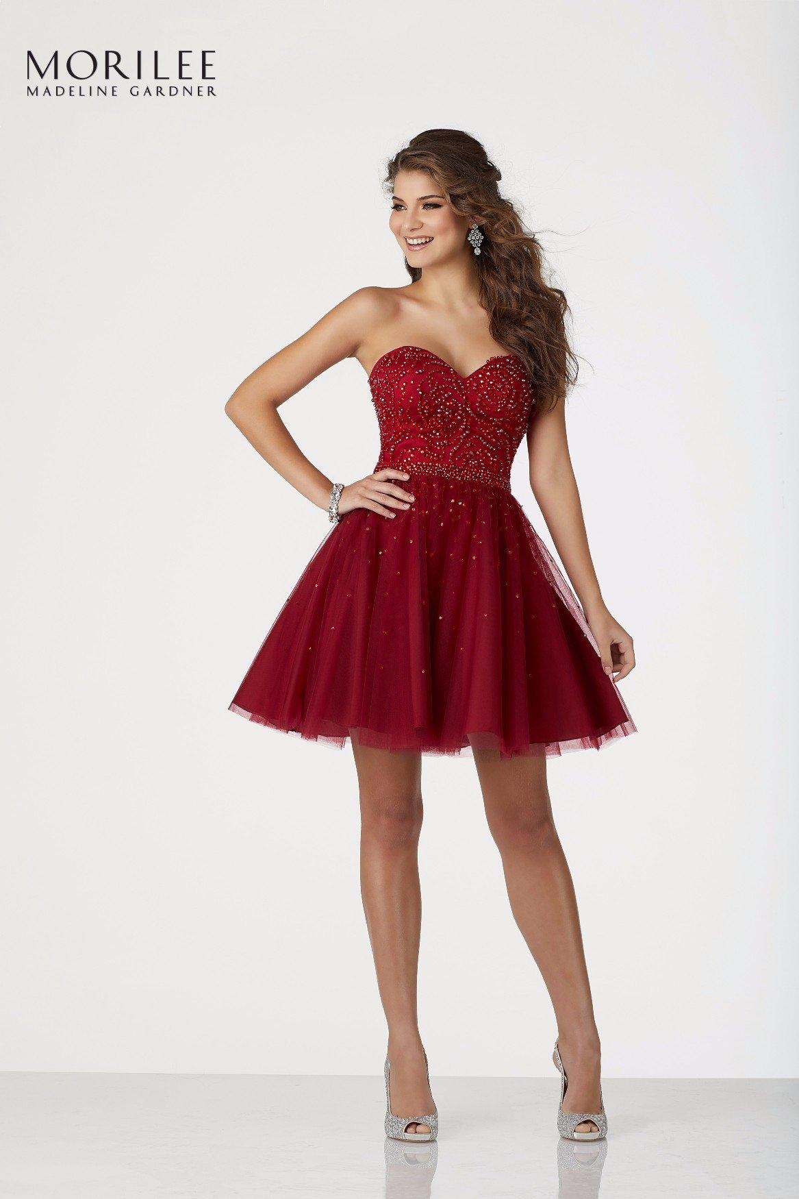 Elegantissimo abito rosso da cerimonia