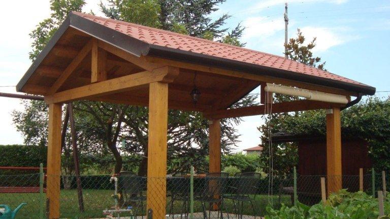 Coperture per gazebi in legno gallery of tettoie in legno carport