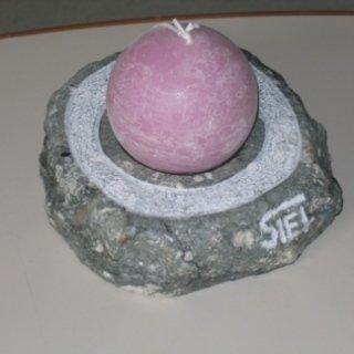 portacandela in pietra