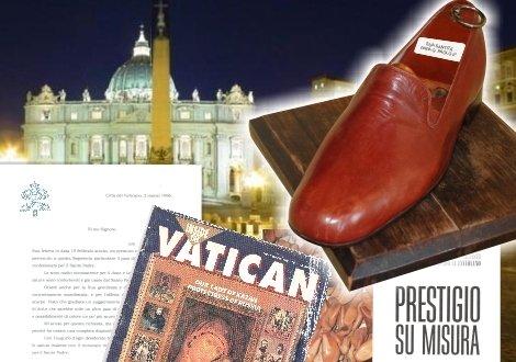 Scarpe realizzate per il papa a Torino
