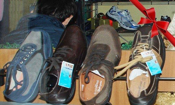 Scarpe in pelle scamosciata