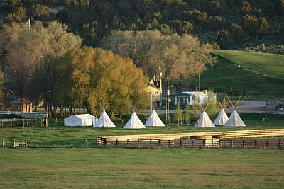 Teepees for rent at Downata Hot Springs in Idaho