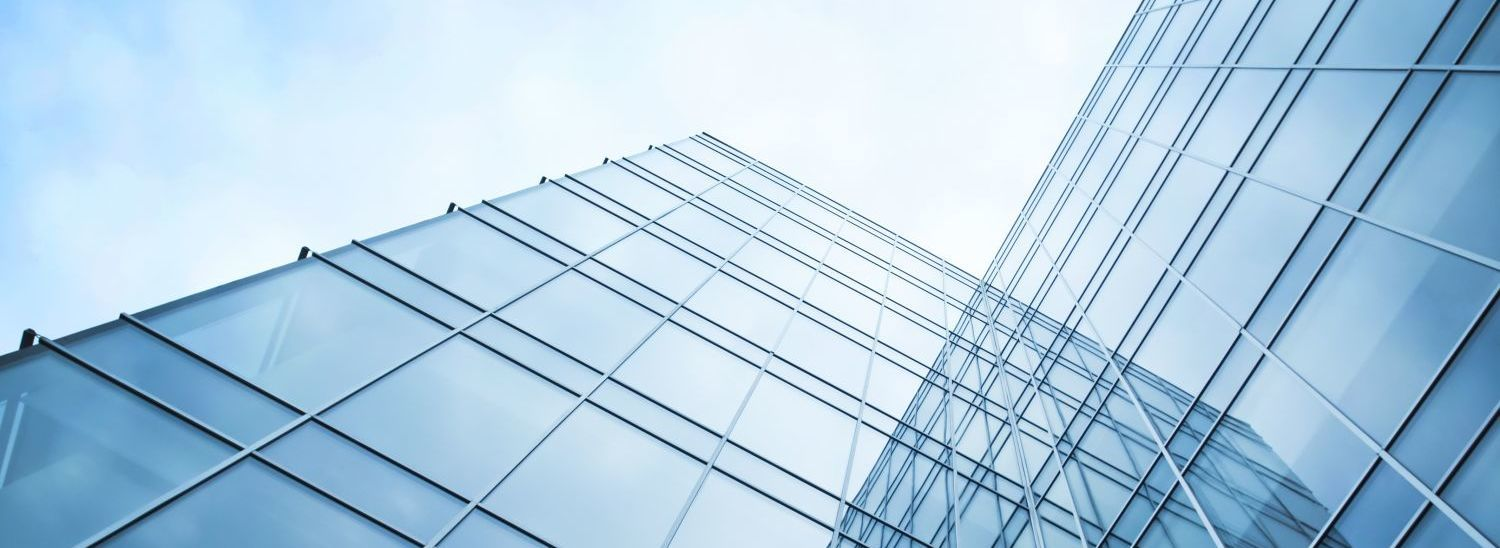 A building's glass exterior by glaziers in Hamilton