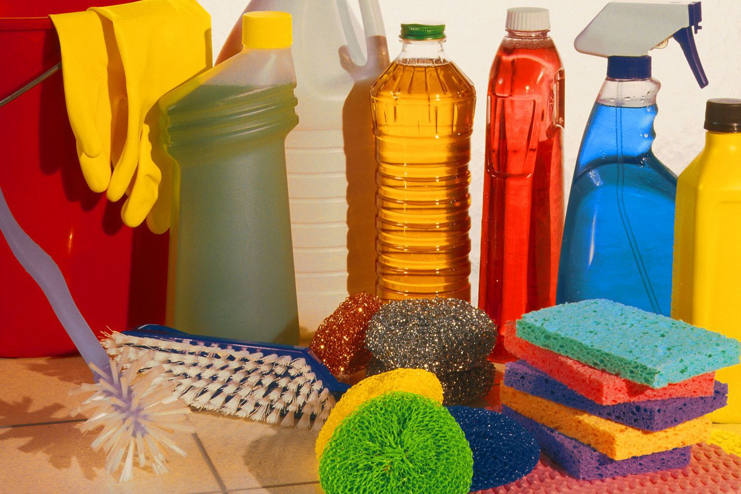 Cleaners and chemicals used by our housekeeping services in Elk Grove, CA