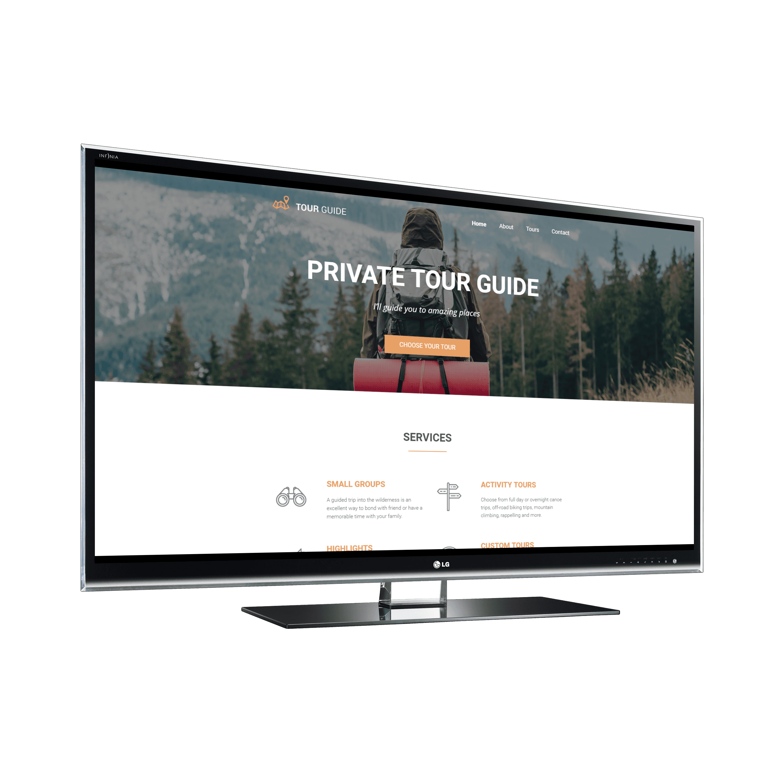Site preview tour guide template pronofoot35fo Image collections