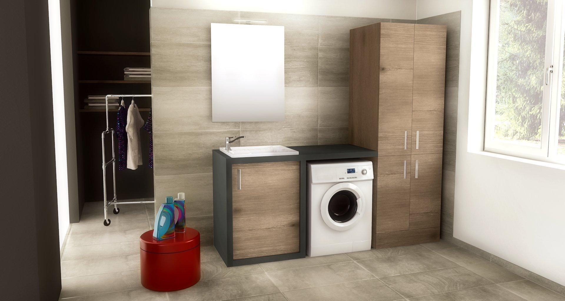 Soluzioni lavatrice in bagno cheap come nascondere la - Lavatrice in bagno soluzioni ...