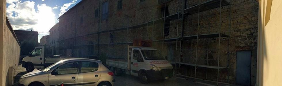 Sabbiatura di muri esterni