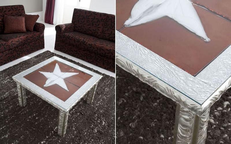 tavolo legno cristallo marcon