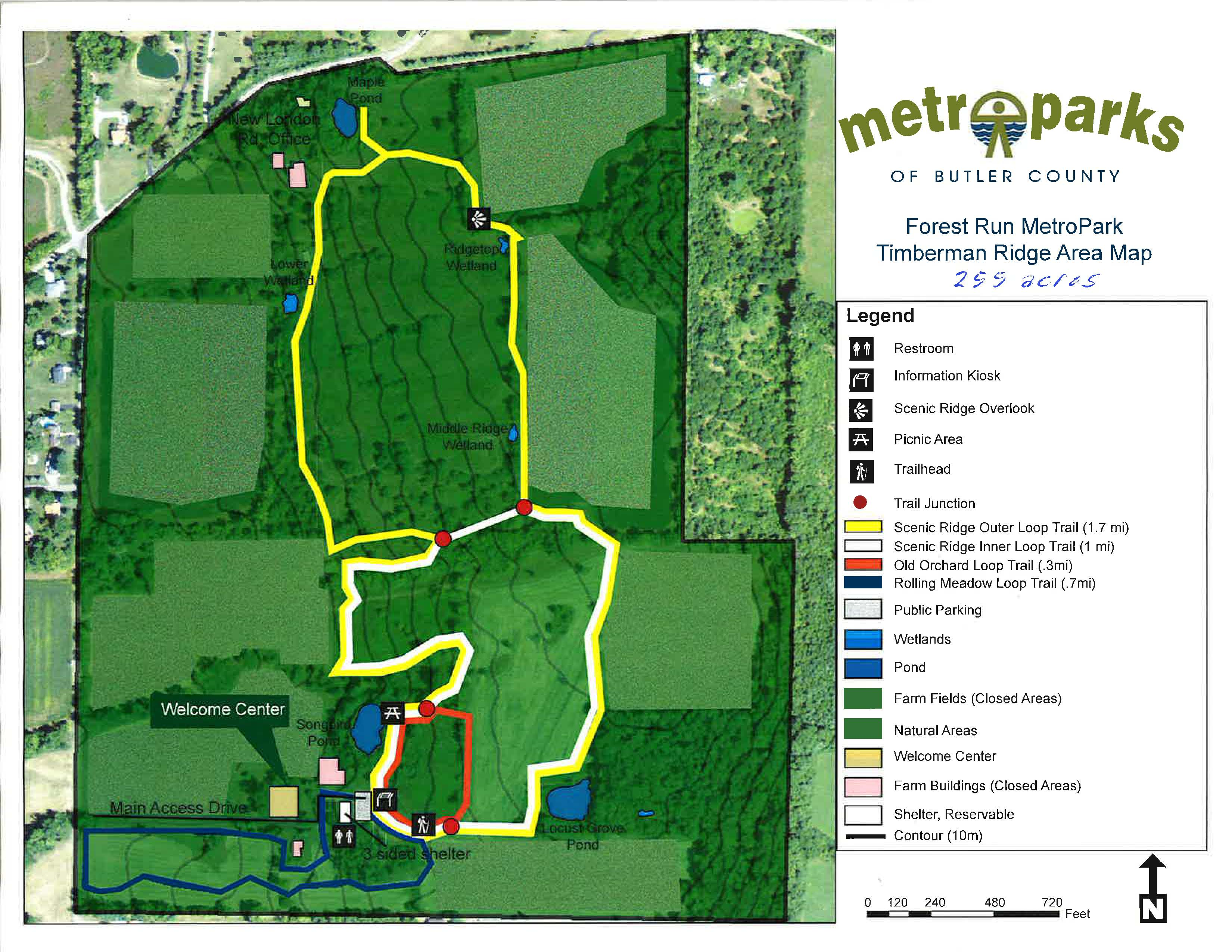 New Trails Open at Forest Run MetroPark in Ross Township