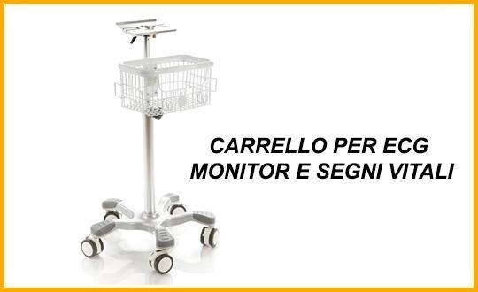 carrello per ecg, monitor, segni vitali