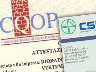 certificazioni diodato pasquale