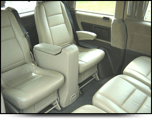 Leather interior of Mercedes people carrier