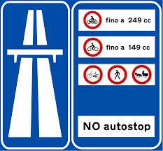 Cartello strada extraurbana principale