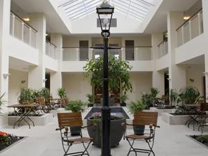 Freshly painted courtyard