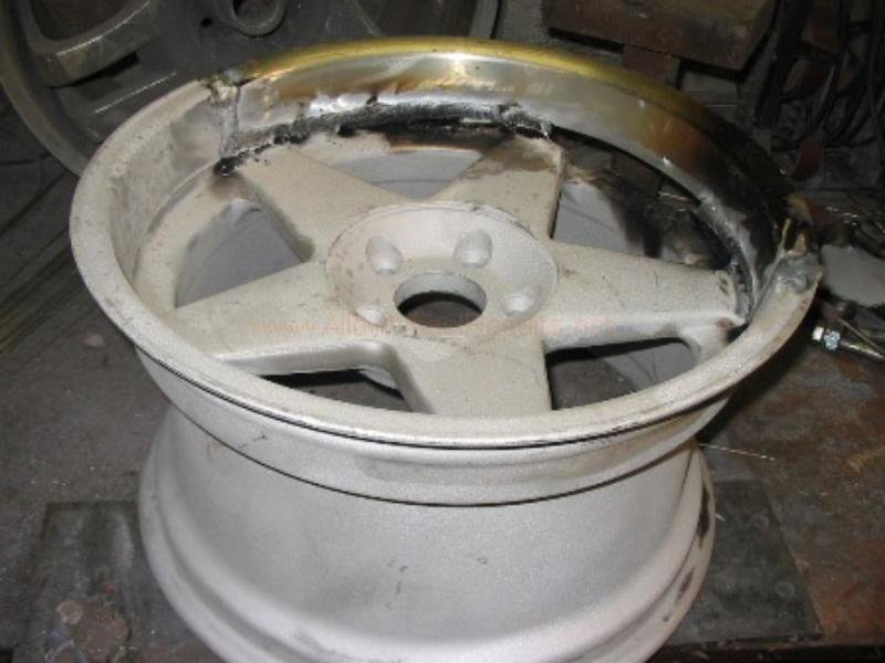 severe damaged wheel