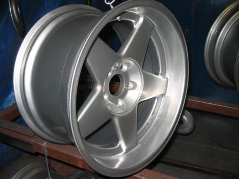 shiny repaired wheel