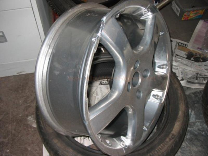 damaged wheel brought to ace performance