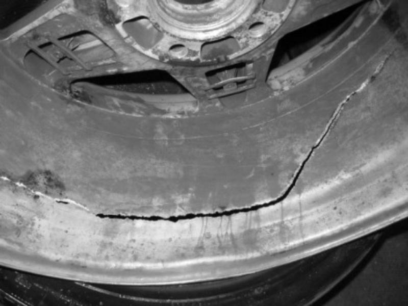 damaged sivler wheel