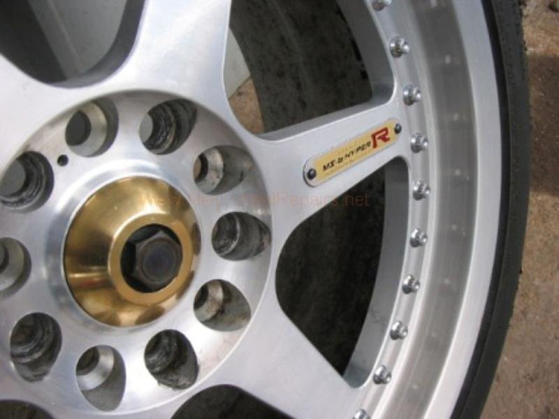 close up of shiny silver gold wheel