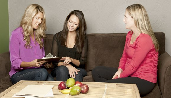 female counsellor with women