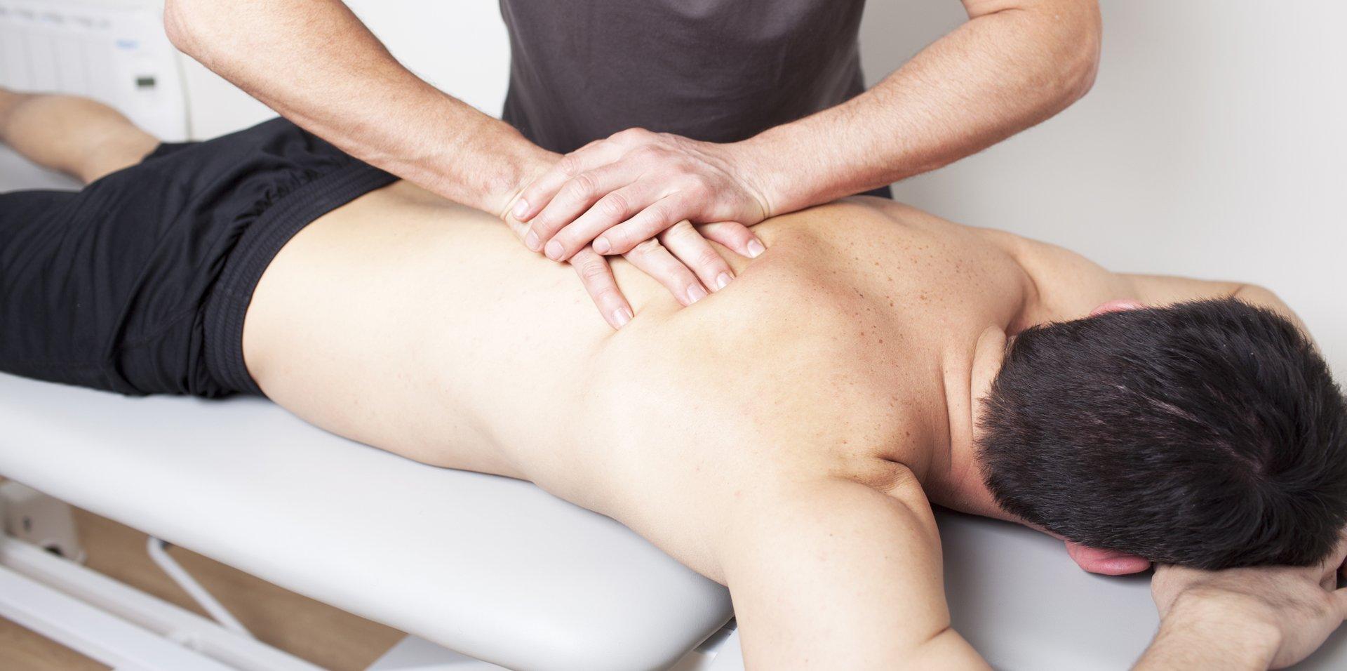 man getting a massage done