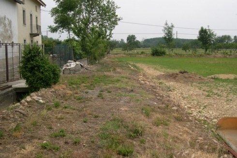 area in cui sorgerà il giardino