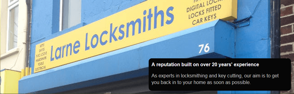 Larne Locksmiths shop front