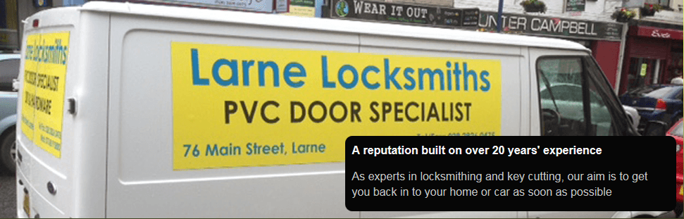 Larne Locksmiths, serving Ballymena and Antrim