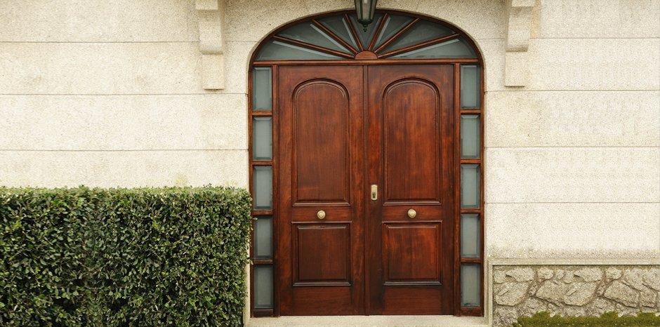 external dark brown door