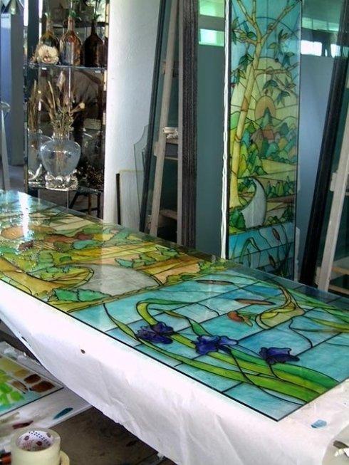 Produzione vetrate colorate