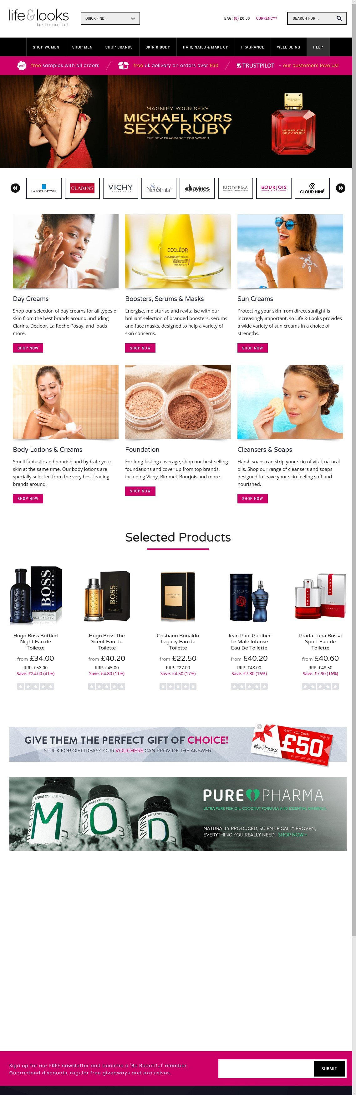 Life and looks is for all your beauty, health, hair products and Fragrances at the lowest prices online
