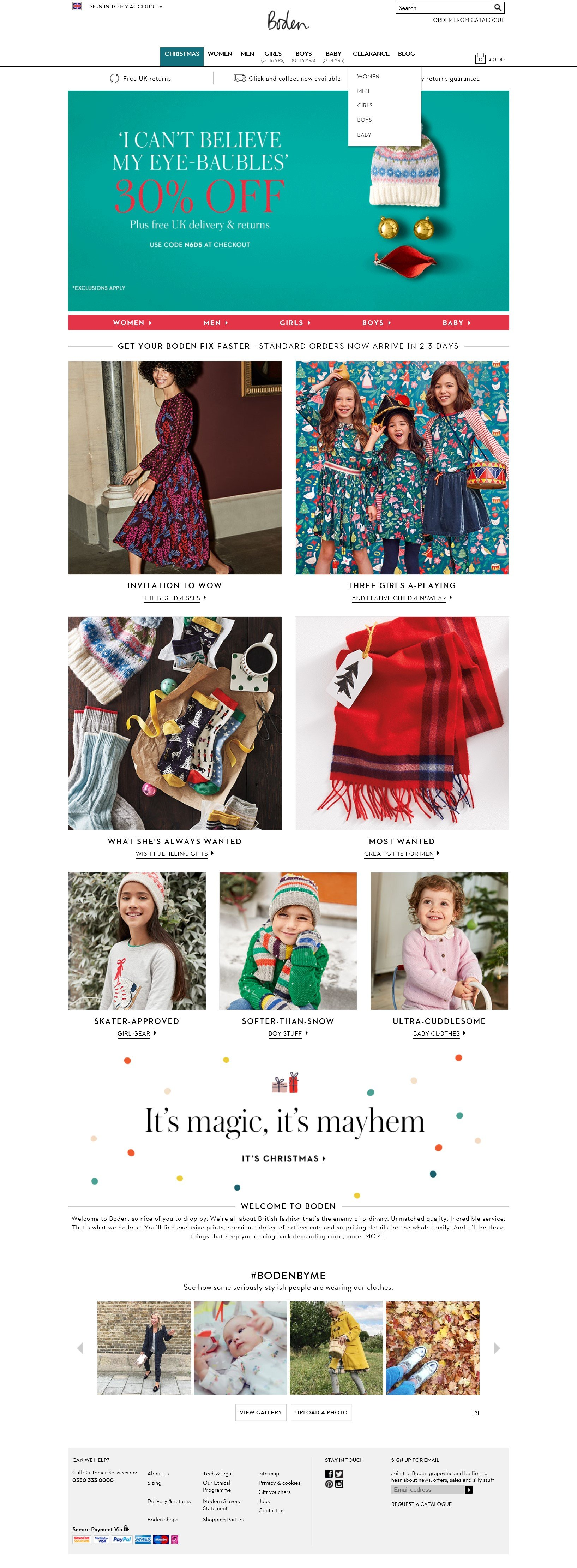 Boden is one of the most successful and fastest growing online clothing companies in the UK