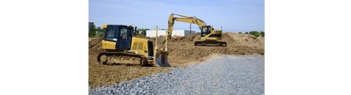 martin bros excavator loading soil