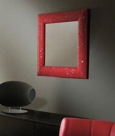 specchio glitterato