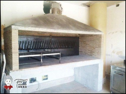 un forno con la griglia