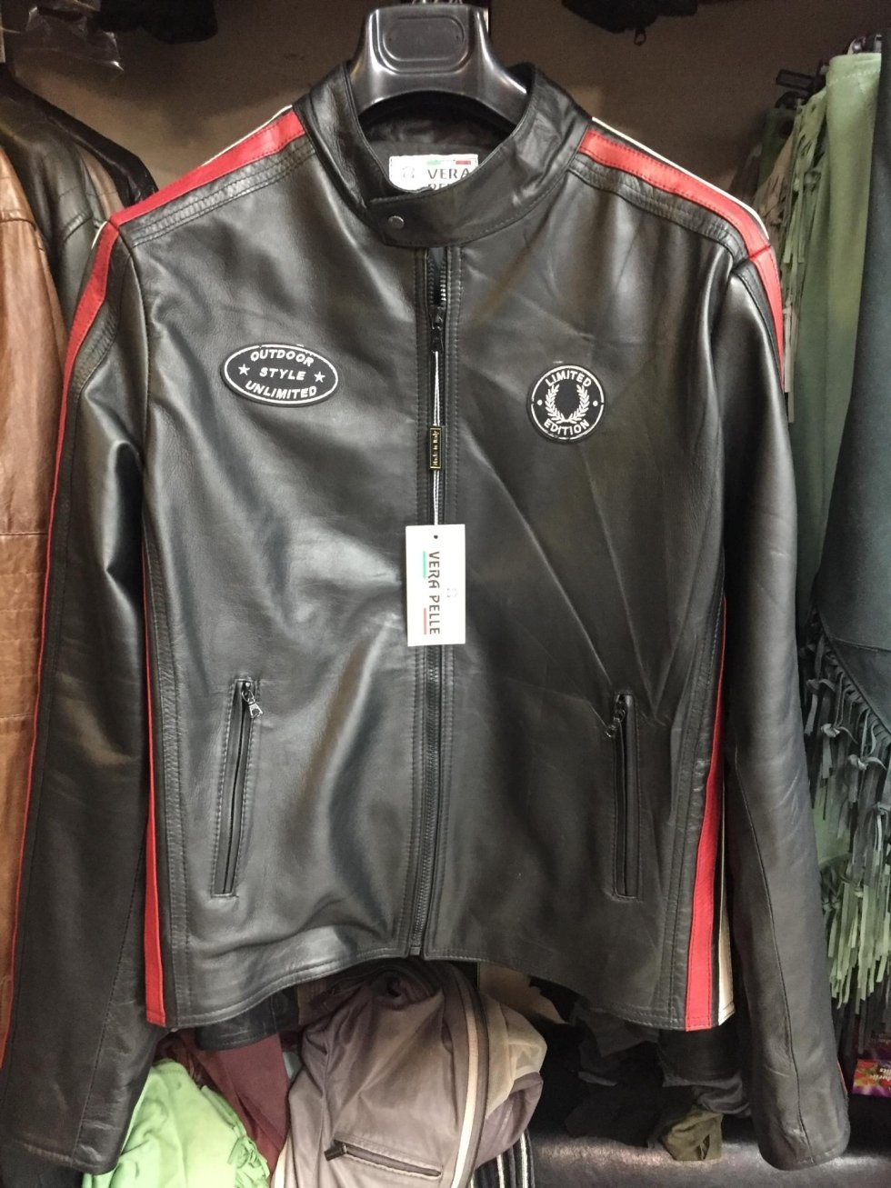 giacca in pelle uomo