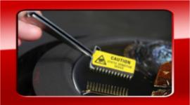 centralina auto, microchip, pinzette da elettrauto
