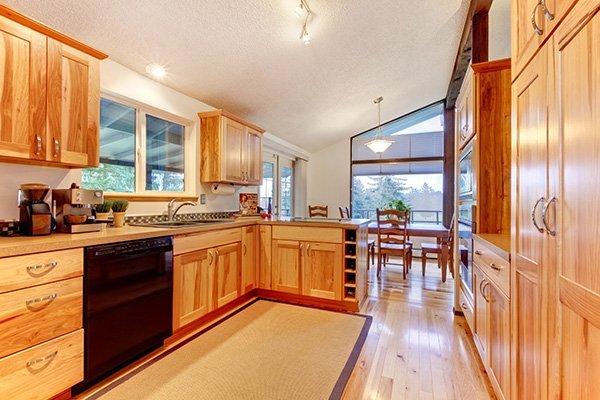 mobili componibili cucina in legno rovere chiaro