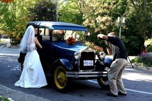 Wedding Pictures with Car